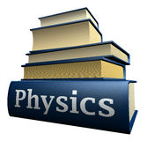 Education books - physics stock photography
