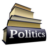 Education books - politics. Five thick old education books on pile Royalty Free Stock Images
