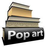 Education books - pop art. Five thick old education books on pile Stock Photo