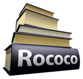 Education books - rococo. Five thick old education books on pile Royalty Free Stock Photography
