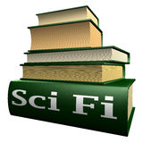 Education books - sci fi stock illustration