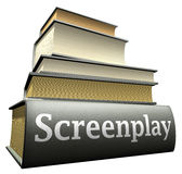 Education books - screenplay Stock Photos