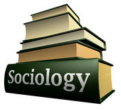Education books - sociology. Five thick old education books on pile Stock Photography