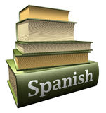 Education books - spanish Royalty Free Stock Image