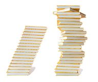 Education books stack Royalty Free Stock Photography