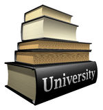 Education books - university stock images