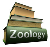 Education books - zoology. Five thick old education books on pile Royalty Free Stock Image