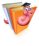 Education bookworm concept Royalty Free Stock Photos
