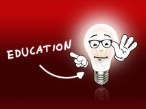 Education Bulb Lamp Energy Light red. Background Idea Royalty Free Stock Photos