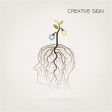 Education and business concept. Tree of Knowledge shoot grow on royalty free illustration