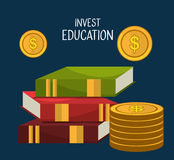 Education business investment. Graphic design,  illustration Royalty Free Stock Images