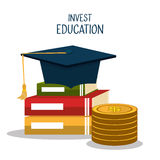 Education business investment. Graphic design,  illustration Stock Photos
