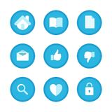 Education, Business and Office Set icons Stock Photography