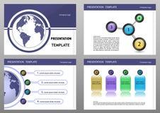 Education or business presentation template set. Presentation templates Infographic elements flat design set for brochure flyer leaflet marketing advertising stock illustration