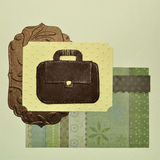 Education, business or travel vintage background Stock Images