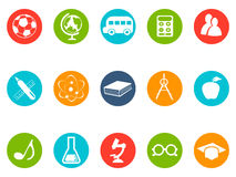 Education button icons set Royalty Free Stock Photography