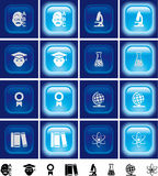 Education buttons with light effect Off/On Stock Photo