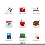 Education buttons...series no.10 Royalty Free Stock Images