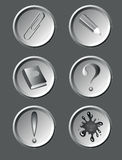 Education buttons Royalty Free Stock Images
