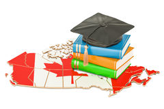 Education in Canada concept, 3D rendering. Isolated on white background Royalty Free Stock Photo