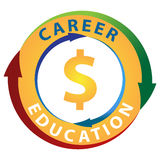 Education Career Earning Potential Icon Royalty Free Stock Images