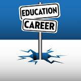Education career plates Stock Images