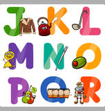 Education Cartoon Alphabet Letters for Kids Royalty Free Stock Photography