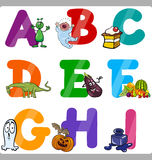 Education Cartoon Alphabet Letters for Kids Stock Image