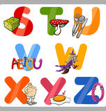 Education Cartoon Alphabet Letters for Kids Royalty Free Stock Image
