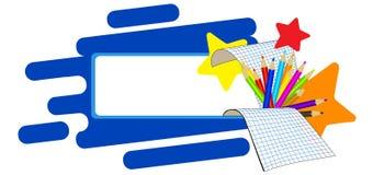 Education cartoon banner. royalty free illustration