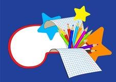 Education cartoon banner. vector illustration