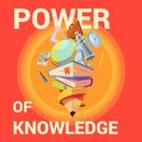 Education cartoon poster stock illustration