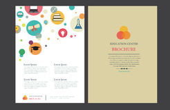 Education Center Brochure Template. Education Center Brochure Layout Design - A4 Vector Template Royalty Free Stock Images