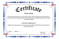 Education certificate Royalty Free Stock Photos