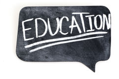 Education on Chalkboard Royalty Free Stock Images