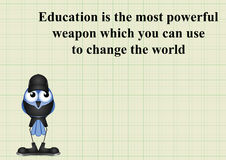 Education change the world Stock Photos