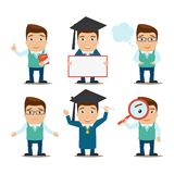 Education characters set Royalty Free Stock Photo