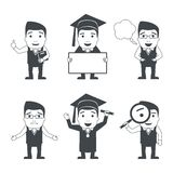 Education characters set Stock Image