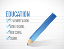 Education check list illustration design Stock Image