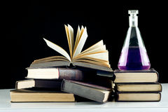 Education chemistry. Isolated over black background Stock Images