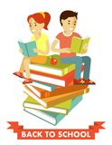 Education children people concept in flat style Royalty Free Stock Photos