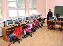 It education with children in school Stock Photos