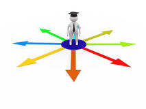 Education Choice 3d Stock Images