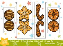 Education Christmas Paper Crafts for children, Christmas Cookies Royalty Free Illustration