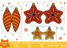 Education Paper Crafts for children, Christmas star and toys. Education Christmas Paper Crafts for children, Christmas star and Christmas toy. Use scissors and royalty free illustration
