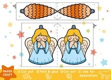 Education Christmas Paper Crafts for children, Christmas toys. Education Christmas Paper Crafts for children, Christmas lump and Angel. Use scissors and glue to royalty free illustration
