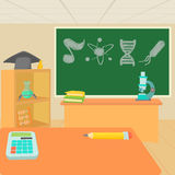 Education classroom concept, cartoon style Royalty Free Stock Photography