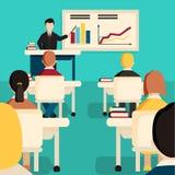 Education classroom  illustration. Royalty Free Stock Image
