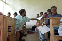 Education in classroom in interior of Suriname Stock Image