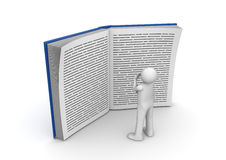 Education collection - Man reading huge book Stock Image